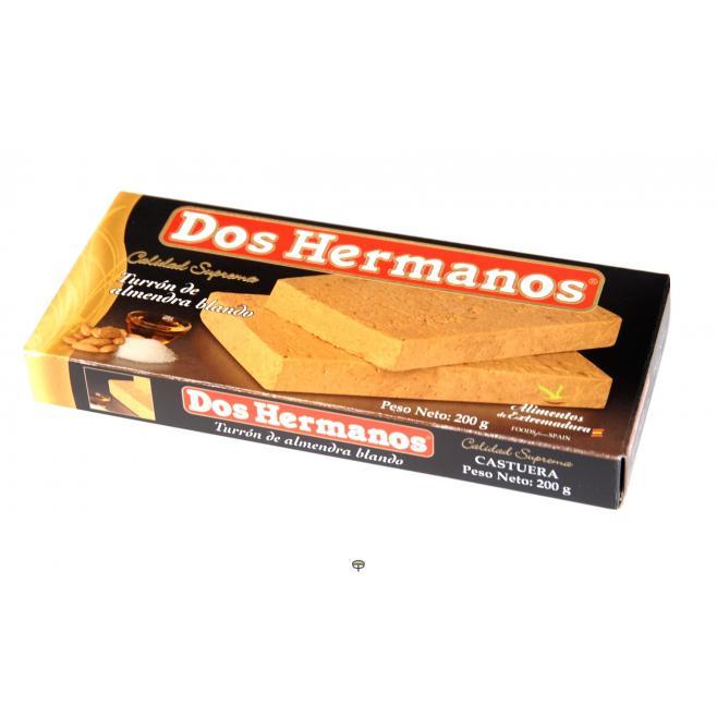 Turrón almendra blando DOS HERMANOS 200 gr.