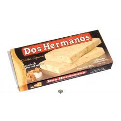 Turrón de nata y nuez DOS HERMANOS 200 gr.