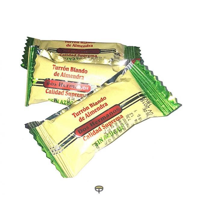 Porción almendra blando sin azúcar DOS HERMANOS caja de 3 kg.