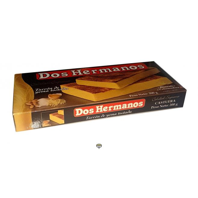 Turrón yema tostada DOS HERMANOS 200 gr.