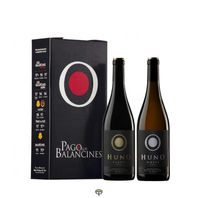 Estuche vino HUNO BLEND 75cl. + HUNO WHITE 75cl.