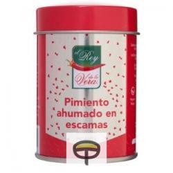 Pimentón picante en escamas REY DE LA VERA, lata 30grs.