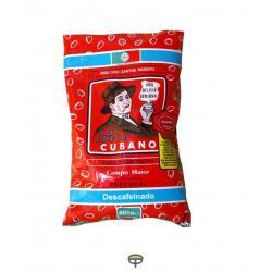 Café en grano torrefacto descafeinado, CUBANO PORTUGUÉS, Bolsa de 500 gr.