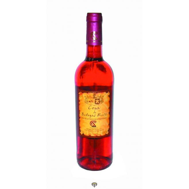 Vino rosado CEPA bodegas ruiz 75 cl.