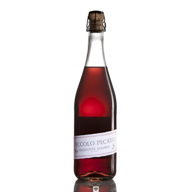 Vino rosado lambrusco PICCOLO PECATO 75 cl.