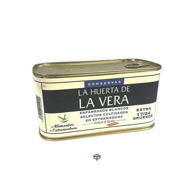 Espárragos blancos, 17/24 Piezas, LA HUERTA DE LA VERA, peso escurrido 500 gr.