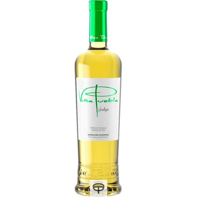 Vino blanco VIÑA PUEBLA verdejo 75 cl.