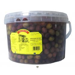 Aceitunas rayadas aliñadas color cambiante LAYSAOLIVA 4,5 kg.