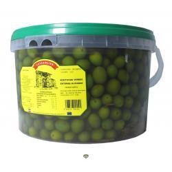 Aceitunas verdes enteras aliñadas LAYSAOLIVA 4,5 kg.