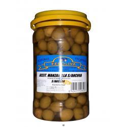 Aceitunas manzanilla sabor anchoa FEROLIVA 650 gr.