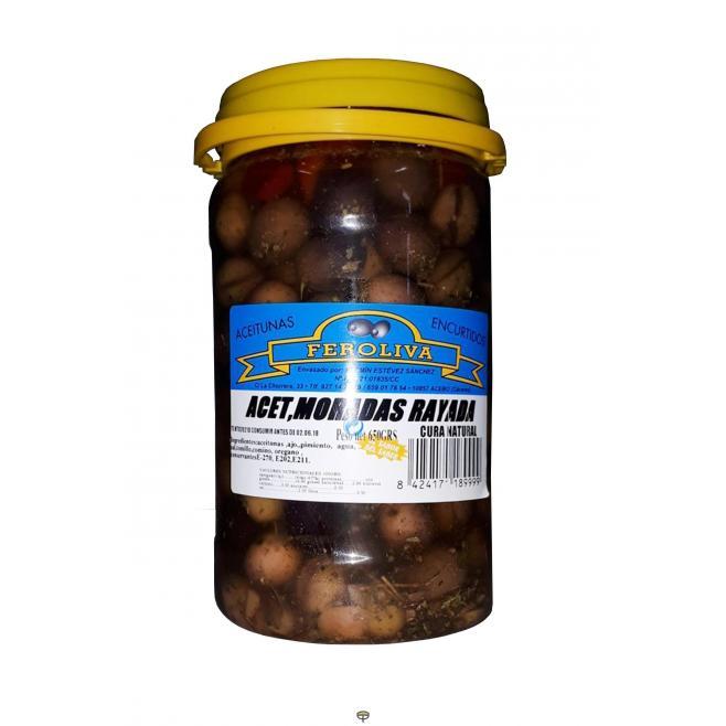 Aceitunas moradas rayadas FEROLIVA 650 gr.
