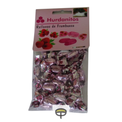 Caramelos frambuesa, HURDANITOS 90gr.