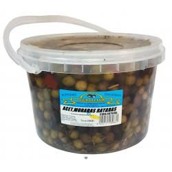 Aceitunas moradas rayadas FEROOLIVA 4.5kg.