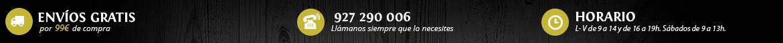 Oferta envio gratis a partir de 99 € de compra en Sabor a Extremadura, Llama siempre que lo necesites al 927290006